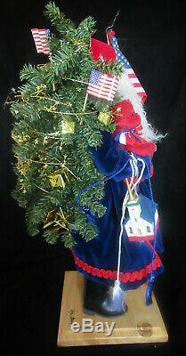 Lynn Haney Santa Claus 2002 YANKEE DOODLE SANTA with Hang Tag in original box