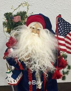 Lynn Haney Santa Claus YANKEE DOODLE SANTA 2002 Hang Tag Original Box Signed EUC
