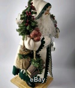 Lynn Haney Signed Handcrafted Vintage Santa Claus Sculpture Oh Christmas Tree