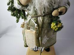 Lynn Haney Signed Handcrafted Vintage Santa Claus Sculpture Santa of Sage Glenn