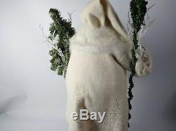 Lynn Haney Signed Handcrafted Vintage Santa Claus Sculpture Winter Wonderland
