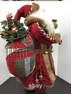 MACKENZIE CHILDS St Nick Santa Claus Christmas Figurine 30 Tall
