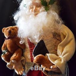 MINT 21 Sculpted 1991 LINDA RANDALL #1/1 BEAR PARTS SANTA Claus SIGNED OOAK