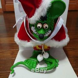 MOON OF JAPAN LTD 500 Rat Fink PVC Santa Claus Figure Doll Green about 20cm New