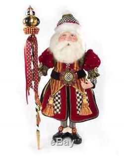 MacKenzie-Childs Christmas Festoonery Santa Claus-27 Tall Standing Figure/Doll