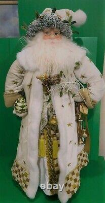 Mackenzie Childs Santa Claus w White Coat