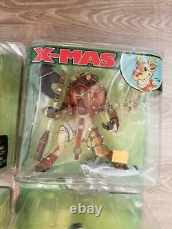Mcfarlane Twisted Christmas 6 Action Figure Set Monsters Series 5 2007 Ungraded