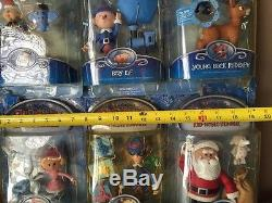 Memory Lane Actions Figures Rudolph- Santa Claus-Tall Elf-With Store Display