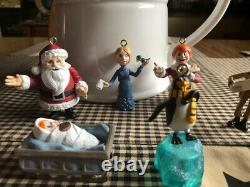 Memory Lane Santa Claus is Comin' Coming To Town 10 PVC Figures/Ornaments