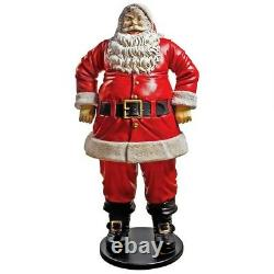 NE80089 Jolly Santa Claus Life-Size Statue Grande Scale Over 6' Tall