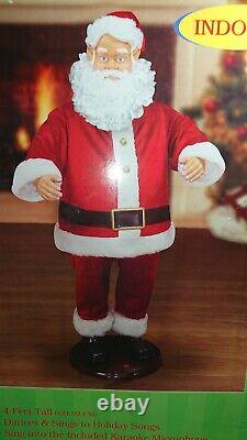 NEW GEMMY Life Size 4 Christmas Animated Singing Dancing Santa Claus WithMic