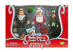 NEW Memory Lane Santa Claus Is Coming To Town Trio Set Burgemeister Tanta MIB