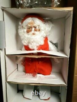 NIB Danbury Mint 18 Santa Claus & Mrs. Claus Porcelain Christmas Figures