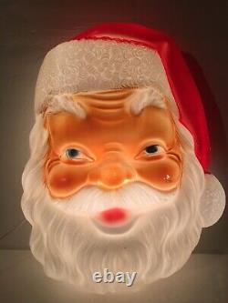 New General Foam Santa Claus Face Blow Mold H17xW14