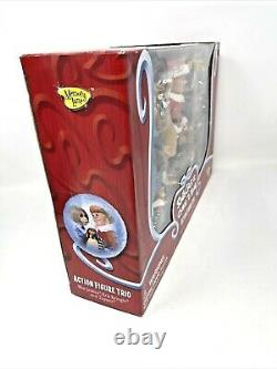 New Memory Lane Santa Claus Is Comin' To Town Action Figure Trio Rare