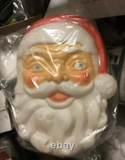 New Santa Claus Face Blow Mold- General Foam Plastics 24 Santa Face Blowmold