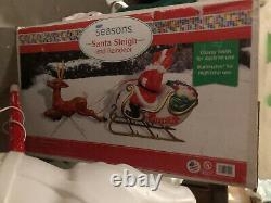 New Santa Claus Sleigh With Reindeer Blow Mold General Foam Plastics