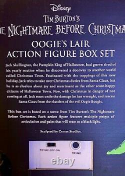 Nightmare Before Christmas Oogies Lair blacklight figure set LAST ONE! SDCC 2020