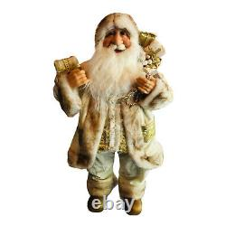 Northlight 24 White and Ivory Standing Santa Claus Christmas Figure