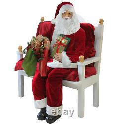 Northlight 6 Foot Life-Size Plush Christmas Santa Claus Figure with Presents