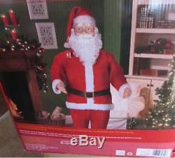 OUT OF PRODUCTION Gemmy Life Size Santa Claus Animated Dancing Sound CHRISTMAS