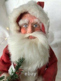Old Papier mache santa claus, candy container