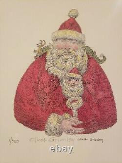 Oliver Grimley (1920 2013) Santa Claus 1/750 Print Pencil Signed