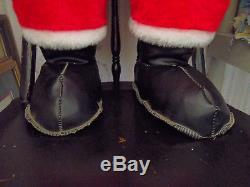 Original Vtg Mid-century Rushton Jolly Santa Claus Atl Ga Blk Boots 36-40 Tall