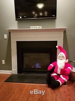 PARISI CREATIONS LARGE HUGE Santa Claus 55in stuffed with plastic face. Excellent