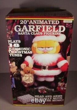 Paws Garfield Cat 20 Animated Motionette Cartoon Santa Claus Musical Figure