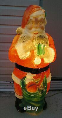 Poloron Santa Claus Blow Mold Christmas Yard Decor 1968 46
