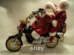 Possible Dreams CHRISTMAS CHOPPER Santa & Mrs. Claus On Motorcycle NEW
