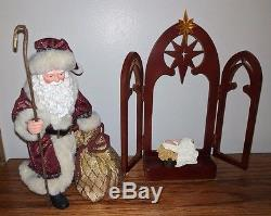 Possible Dreams Clothtique 2007 Santa Claus BETHLEHEM Lighted Star Christmas HTF