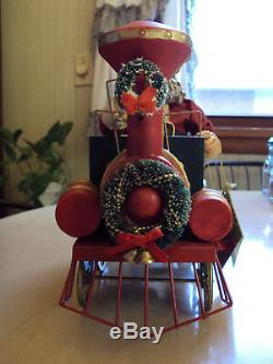 Possible Dreams Clothtique Engineer Santa Claus Christmas Express Musical 1992