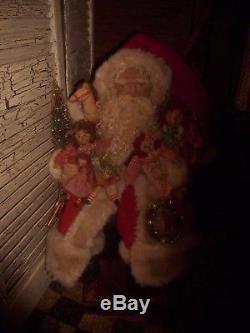 Primitive Santa Claus DOll, Raggedy Ann Dolls, christmas ornaments, Handmade, OOAK