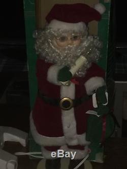 RARE 24 Vintage/Antique Christmas Decoration Mechanical Santa Claus WORKS