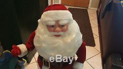 RARE 36 VINTAGE MECHANICAL Harold Gale Santa Claus Christmas Store Display