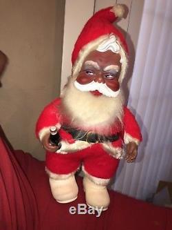 RARE Black/ African American Rushton 1950s Vintage Coca-Cola Santa Claus Toy