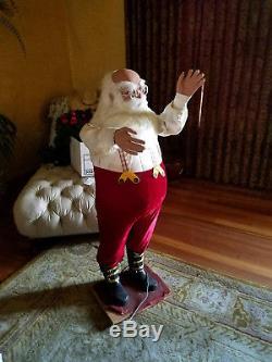 RARE David Hamberger Animated Mechanical Christmas Santa Claus