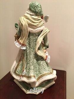 RARE Fitz and Floyd GREGORIAN Green Santa Claus 21 Figure Statue Original box