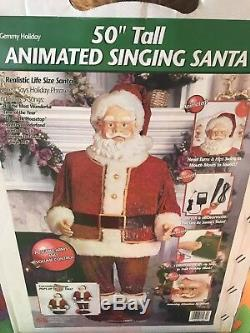 RARE Gemmy Animated Singing Dancing Santa Claus Holiday Time 5 in box COMPLETE