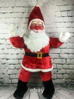 RARE Large Jumbo Christmas 50 Santa Claus Holiday Plush Stuffed Ace Novelty Vtg