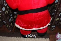 RARE-Large Vintage 48 Large SANTA CLAUS Stuffed 1950's -1960's Christmas