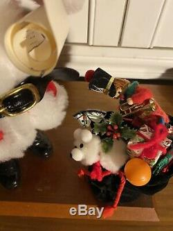 RARE Simpich Santa Claus With Toy Bag Early Figure From 1980