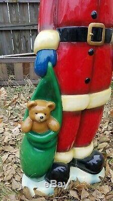 RARE UNIQUE Large 61 LIFE SIZE Santa Claus Pointy Hat Toy Bag Statue Decoration