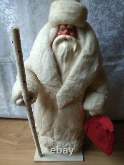 RARE USSR VINTAGE 1966 Soviet RUSSIA doll LARGE toy Santa Claus Christmas Figur