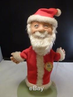 RARE VINTAGE STEIFF SANTA CLAUS HAND PUPPET With TAG CHRISTMAS GUMPS 12