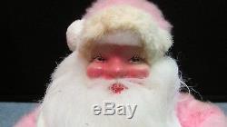 RARE Vintage 14 Harold Gale 1960s Pink Fur Santa Claus Mary Kay Cosmetics