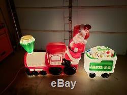 RARE Vintage Empire Santa Claus Train Blow Mold
