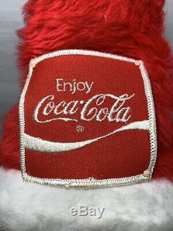 RARE Vintage Santa Claus Christmas Store Display Advertising Doll Standing Coke